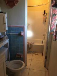 Bathroom before modification