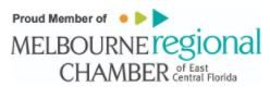 pROUD MEMBER OF MELBOURNE REGIONAL CHAMBER OF EAST CENTRAL FLORIDA